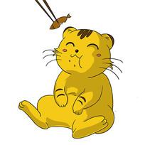 吃小鱼干的肥猫表情包