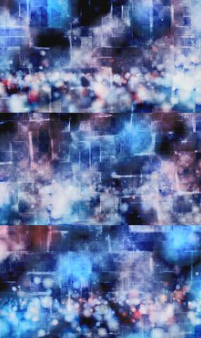 落下弹走粒子雾化闪烁合成背景视频素材