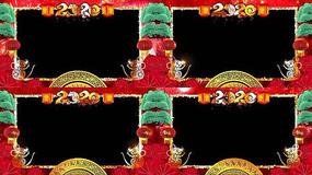 鼠年春节拜年边框AE视频模板