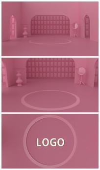 小清新粉色装修设计logo视频模板