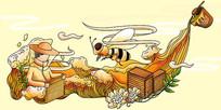 原创元素蜂蜜包装