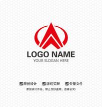 WA字母企业LOGO设计