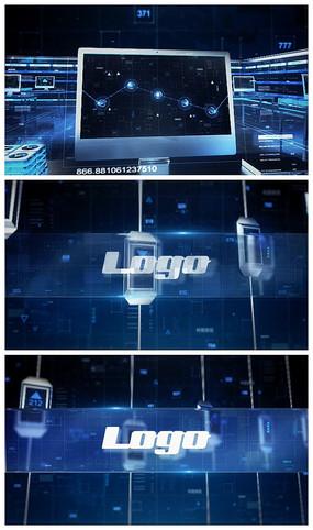 科技数据信息化片头LOGOAE视频模板