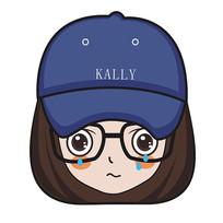 哭泣的蓝色帽子小女孩手绘卡通表情包