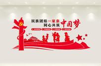 大气民族团结文化墙