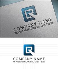 LR字母LOGO标志设计