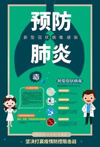 简约清新预防新型冠状病毒肺炎海报
