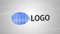 科技LOGO展示简易数据汇报图文汇报视频模板