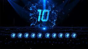 蓝色10人手掌启动仪式AE模板