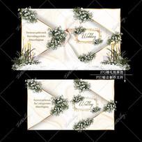 香槟色主题婚礼效果图设计简约浪漫婚庆舞台