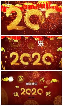 喜庆2020鼠年logo视频模板