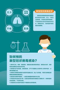 简约预防新型冠状病毒海报