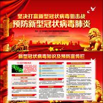 社区新型冠状病毒宣传栏
