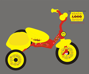 儿童三轮自行车贴花设计