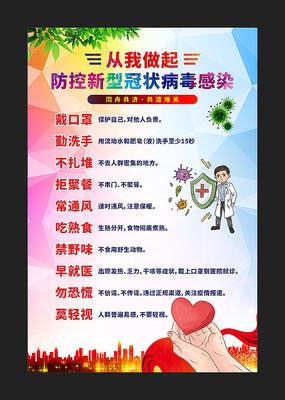 防控新型冠状病毒肺炎标语宣传展板