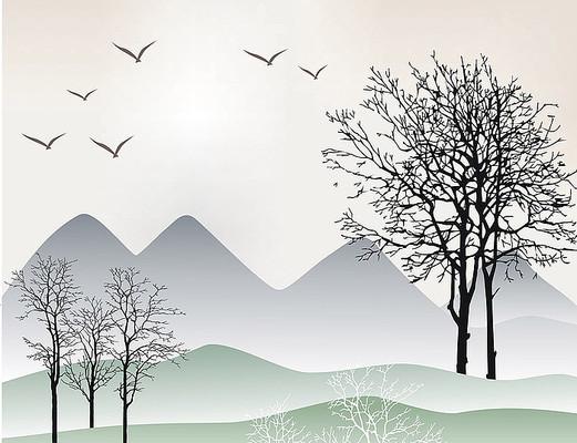 风景移门壁纸家居装饰图案