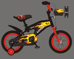 酷炫儿童自行车车贴