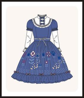 洛丽塔服装女装设计图