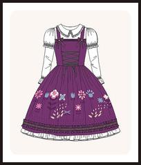 洛丽塔服装设计少女装宫廷风款式图