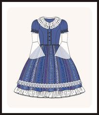 洛丽塔服装设计少女装款式图