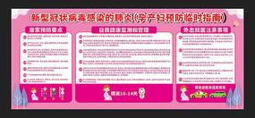 新冠病毒肺炎孕产妇预防临时指南宣传栏