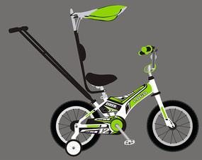 新款儿童自行车车贴设计