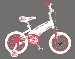新款花卉儿童自行车贴花设计