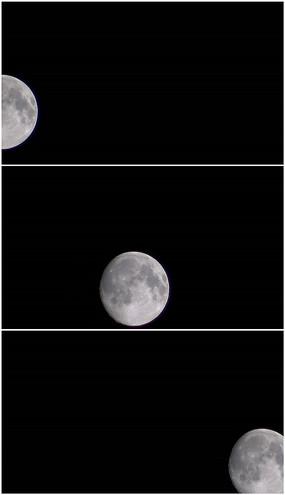 月亮划过天边自转高清视频素材