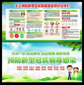 预防新型冠状病毒感染知识宣传栏