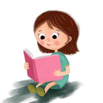 读书的小女孩