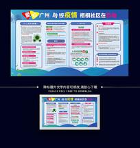 防疫新型冠状病毒社区宣传展板