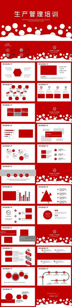 红色工厂生产管理培训PPT模板