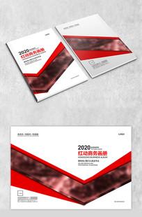红色几何商务封面