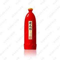 红色酒瓶效果图