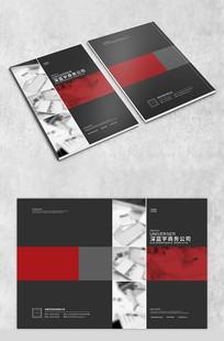 简洁红色商务封面