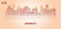 沈阳城市线稿