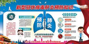 社区风预防新型冠状病毒肺炎展板
