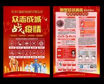 新型冠状病毒肺炎疫情宣传单设计