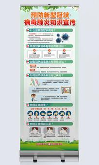 预防新型冠状病毒肺炎宣传展架