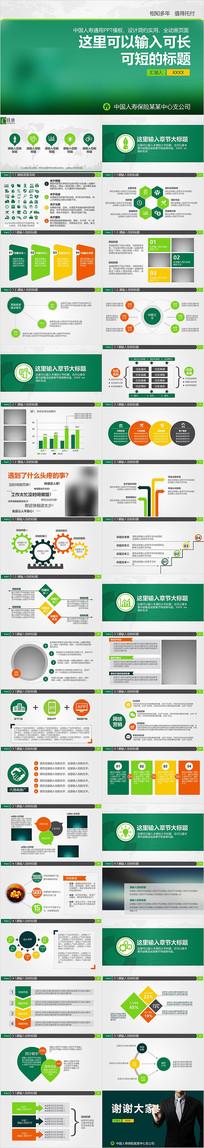中国人寿险金融理财动态工作汇报PPT