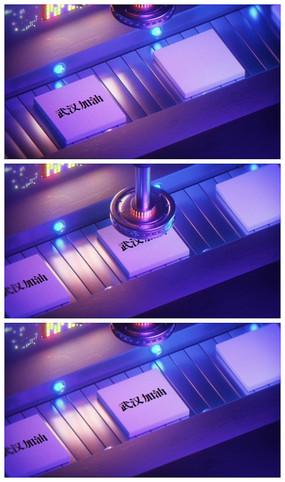 科技感机械化LOGO武汉加油视频模板