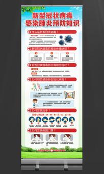 预防新型冠状病毒肺炎知识宣传展架