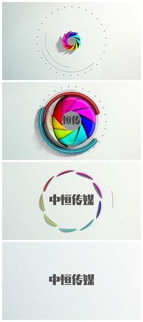 炫酷五彩logo演绎视频模板