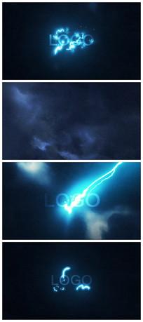 闪电展示LOGO演绎片头视频模板