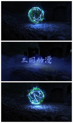 震撼闪电logo演绎片头视频模板