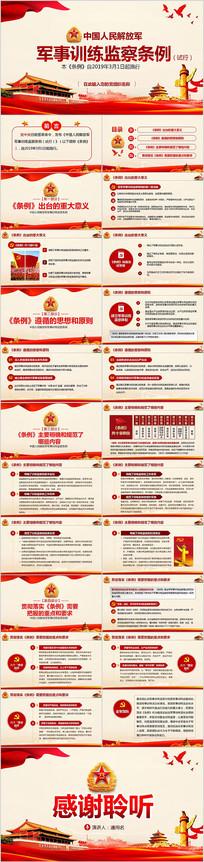 中国人民解放军军事训练监察条例试行PPT