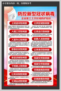 返工人员新型肺炎预防知识海报