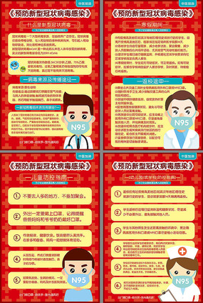 卡通漂亮新型冠状病毒海报