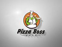披萨logo标志设计