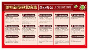 企业预防新型冠状病毒展板模板